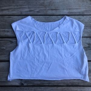 Emma & Sam White Cropped Tshirt